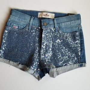 Hollister High Rise Shorts Sequins Size 23W 00